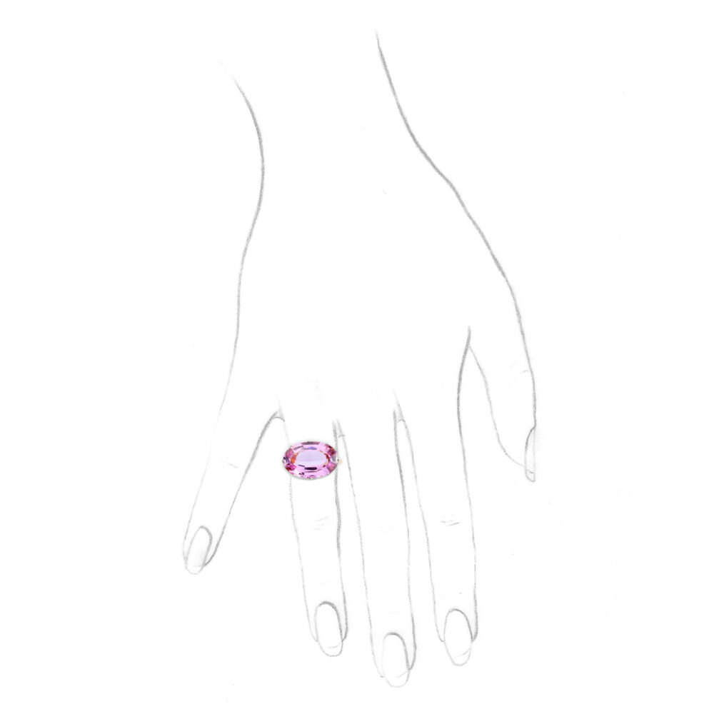 A Pink Topaz Ring