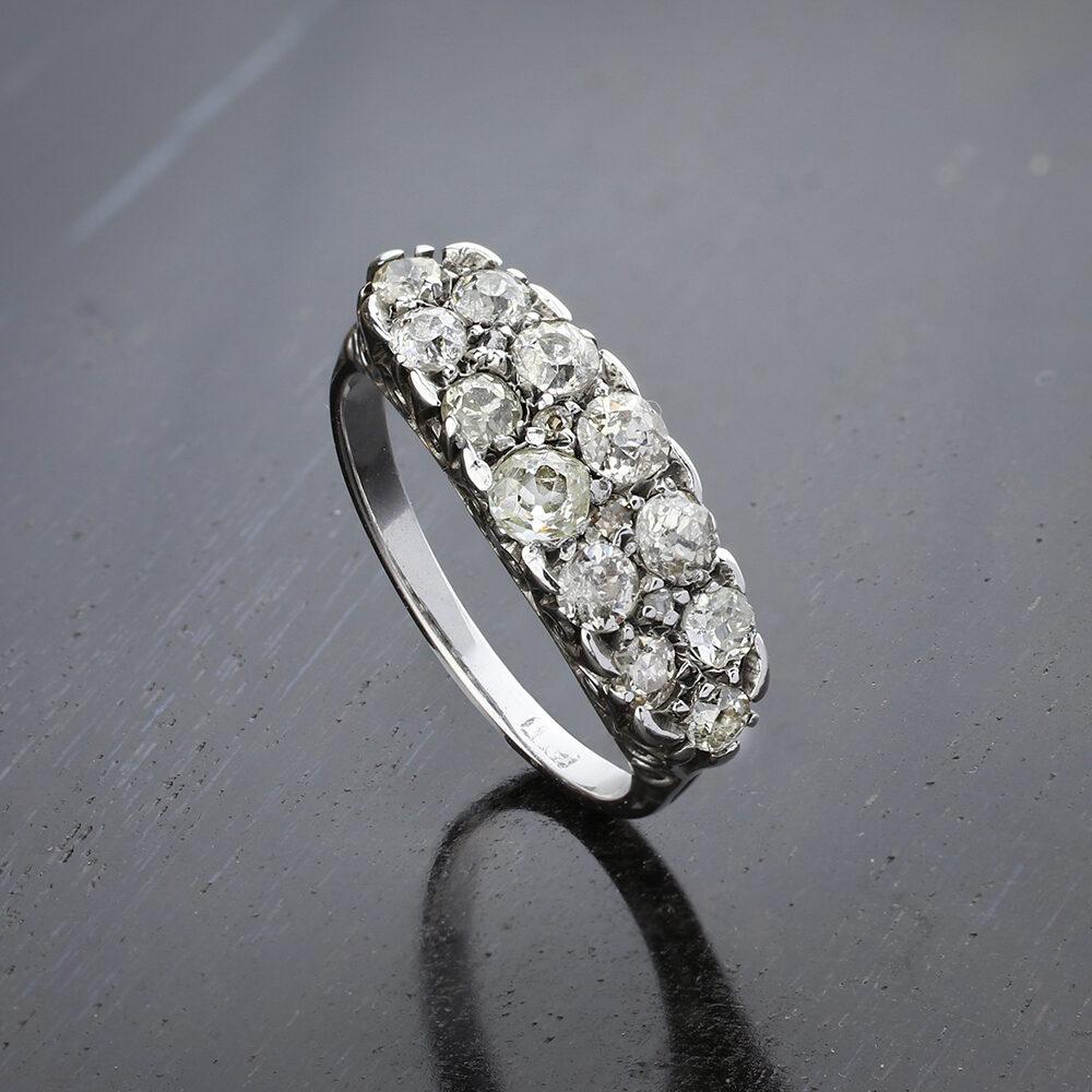 Antique Double Row Diamond Set Ring