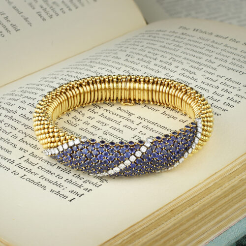 Van Cleef & Arpels 'Cous Cous' Gold, Diamond and Sapphire Bracelet