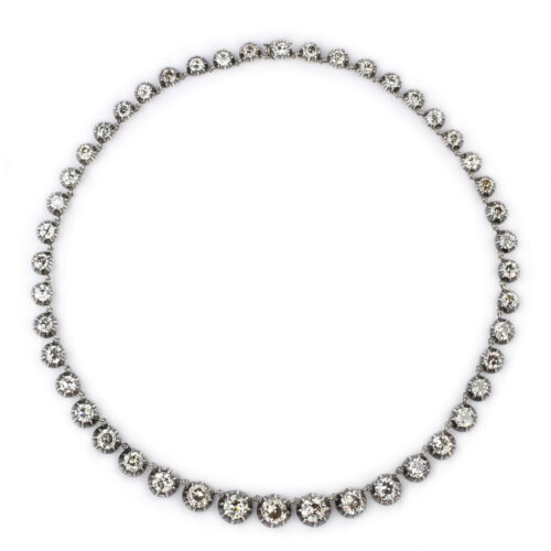 Antique Diamond Riviere Necklace