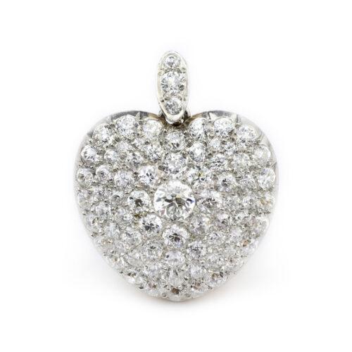 Antique Diamond Set Heart Shaped Pendant
