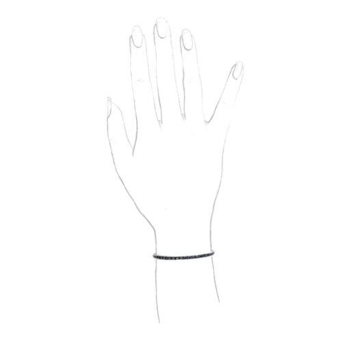 Onyx and Platinum Line Bracelet
