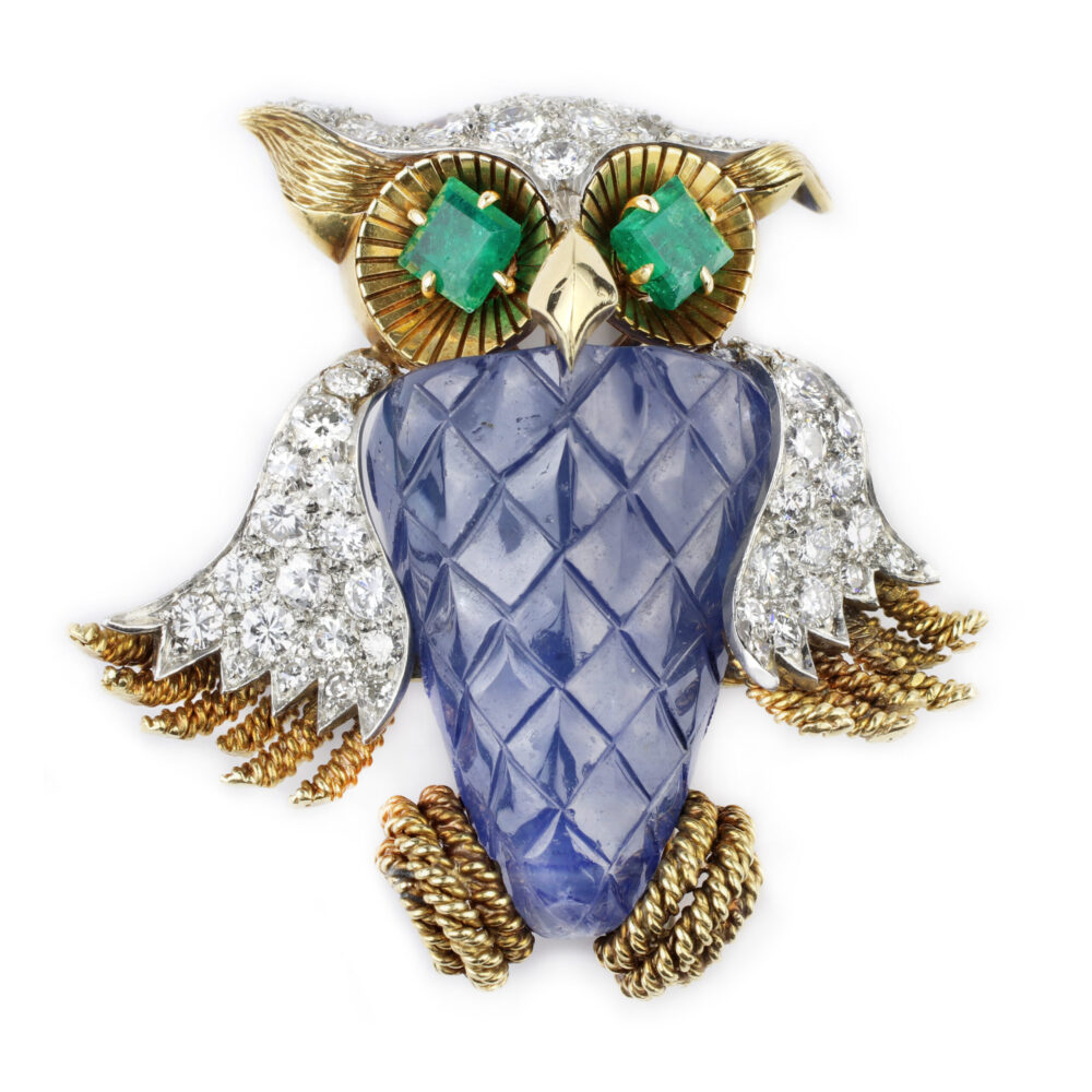 David Webb Multi-Gem and Diamond Brooch