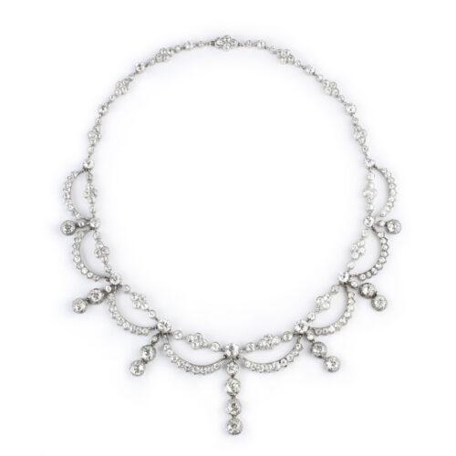 Antique Diamond Set Swag Necklace