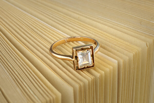 Rectangular Step Cut Diamond Ring