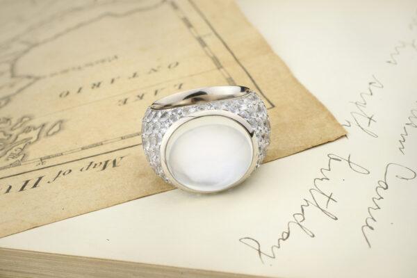 Hemmerle Moonstone And White Sapphire Ring