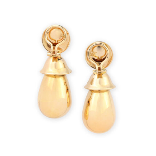 Hemmerle Sculpted Rose Gold Ear Pendants