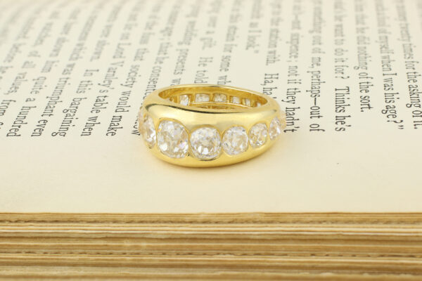 Diamond Set Gold Band