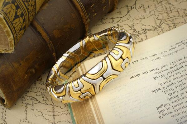 "Bulgari, Gold And Steel 'Parentesi"" Cuff Bracelet"