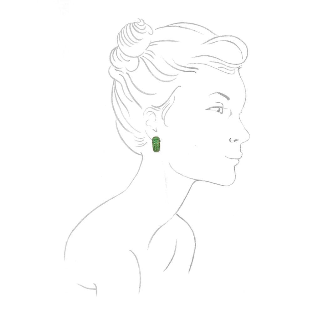 Hemmerle, Tsavorite Garnet Ear Clips