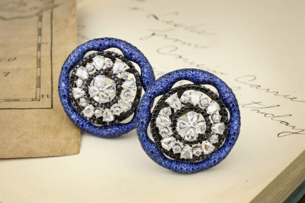 Carnet Sapphire And Diamond Ear Clips