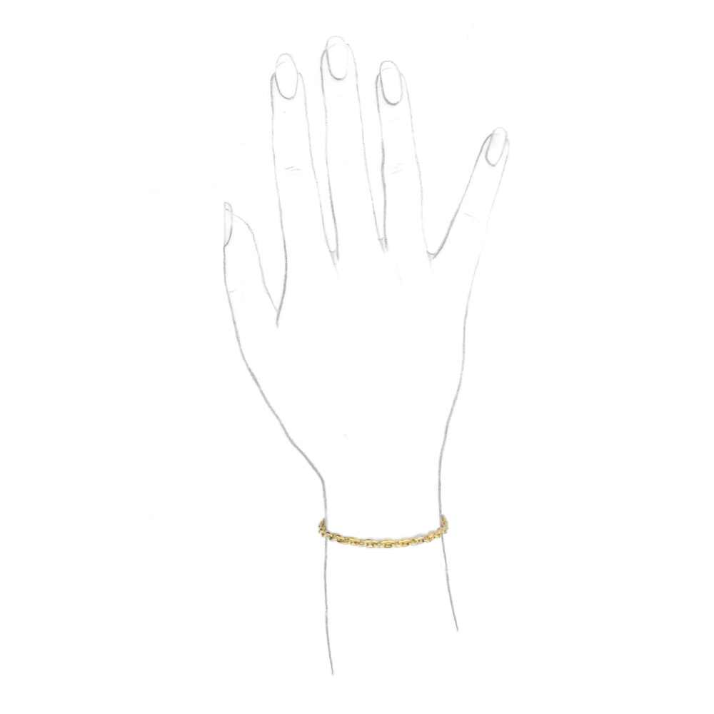 Cartier, A Tri-Colored Gold Link Bracelet