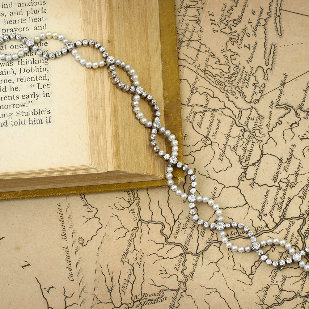 Belle Epoque Natural Pearl and Diamond Bracelet