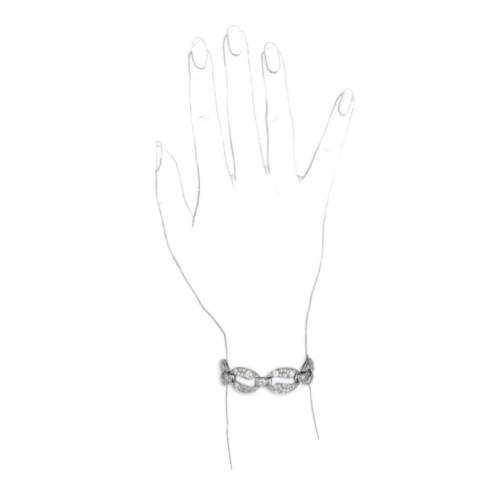 Cartier Art Deco Diamond and Platinum Bracelet