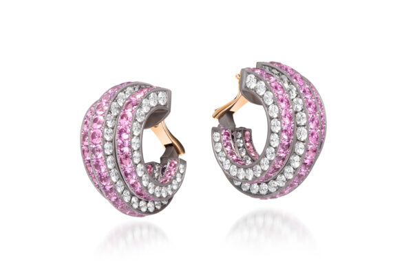 Pink Sapphire And Diamond Earrings» Price On Request «