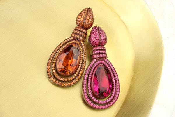 Hemmerle Tourmaline, Orange Sapphire And Spinel Ear Pendants» Price On Request «