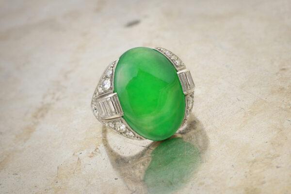 Art Deco Jade And Diamond Ring» Price On Request «