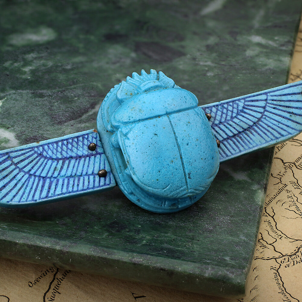 An Egyptian Revival Scarab Beetle Brooch