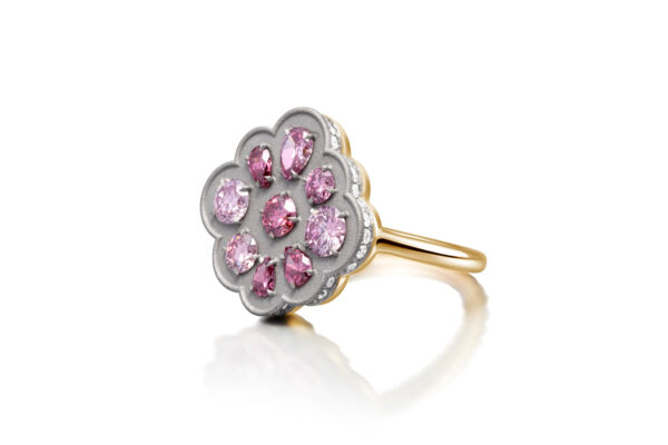 Pink And White Diamond Ring» Price On Request «