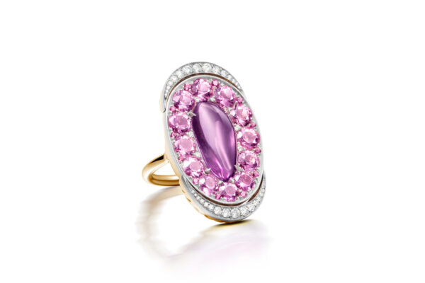 Pink Sapphire And Diamond Ring» Price On Request «