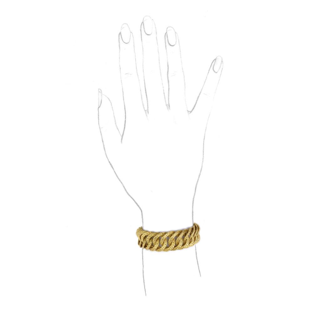 Cartier Woven Gold Link Bracelet