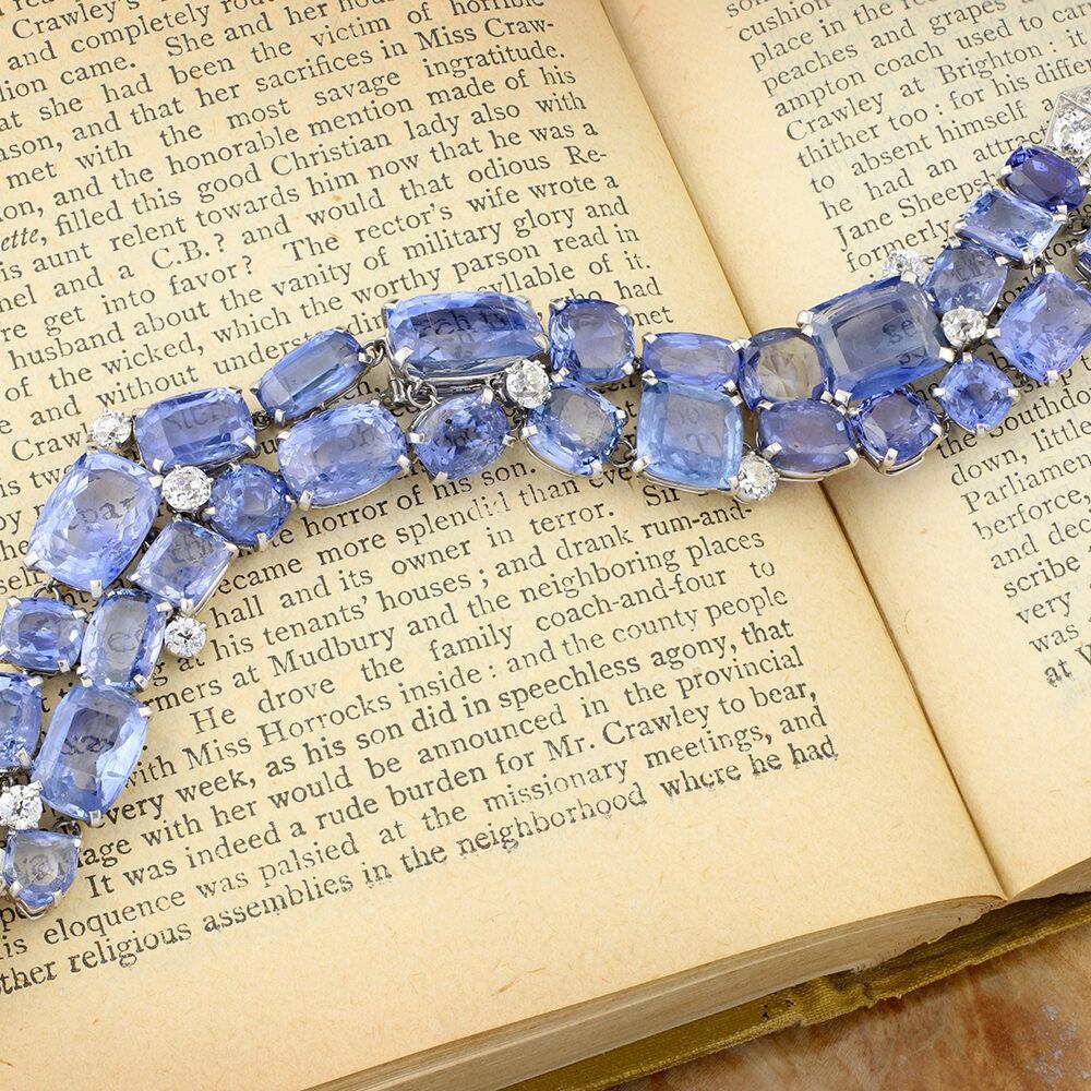 Cartier Platinum, Sapphire and Diamond Bracelet