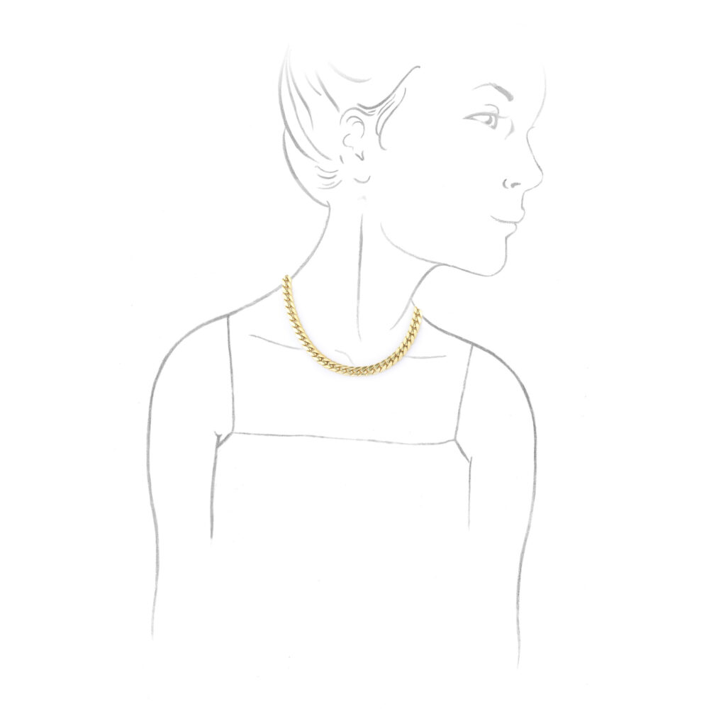Cartier Gold Chain Collar Necklace
