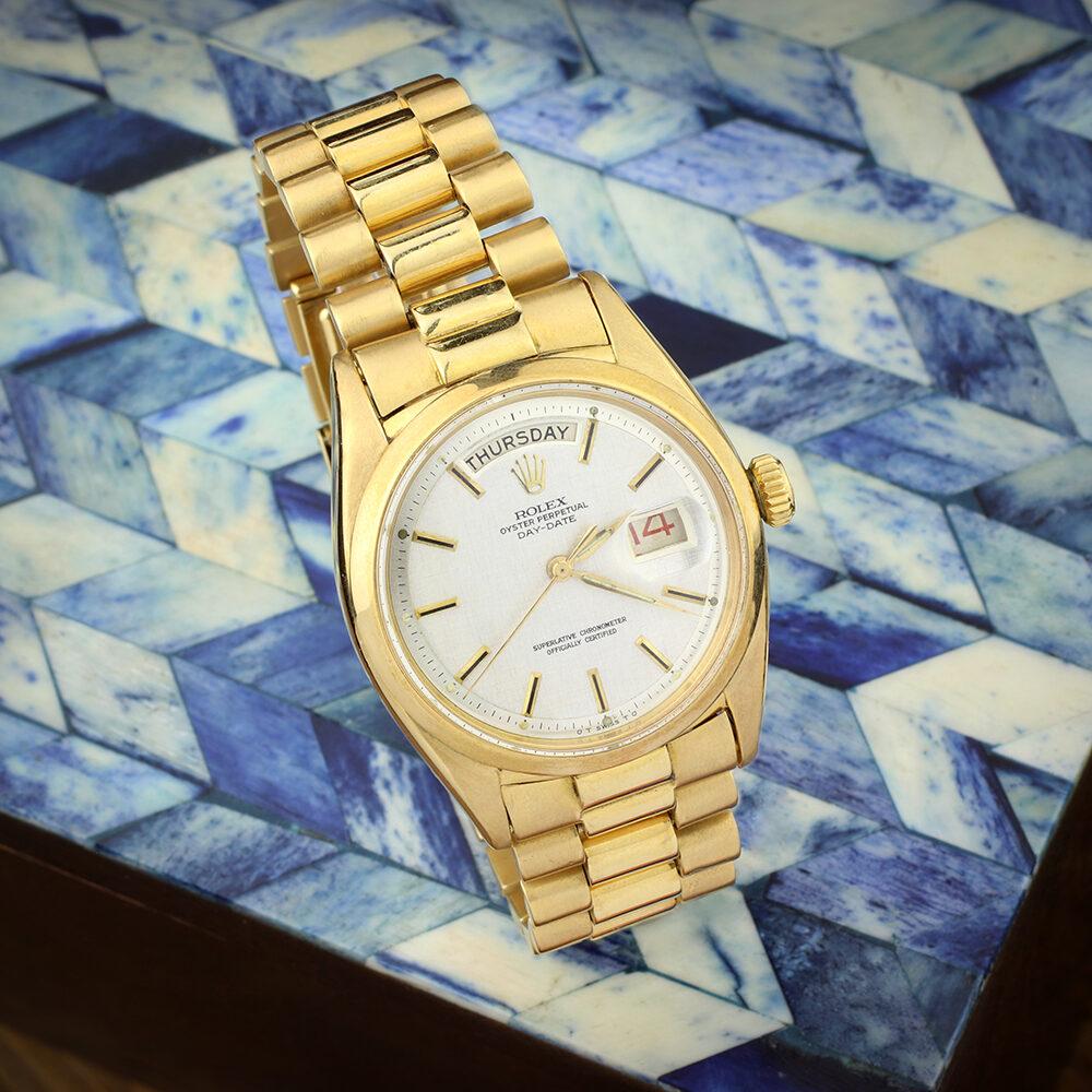 Rolex Yellow Gold Day Date President Wristwatch