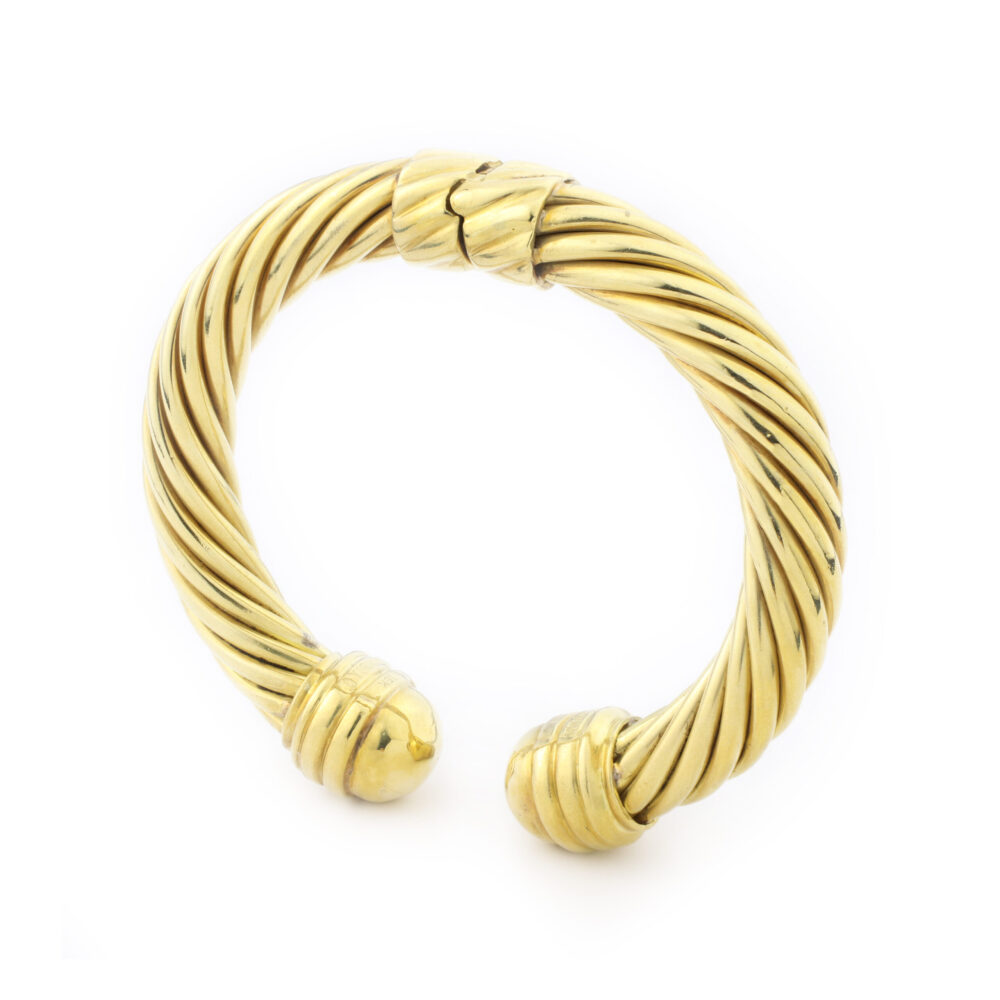 David Yurman 'Cable Classic' Gold Bangle