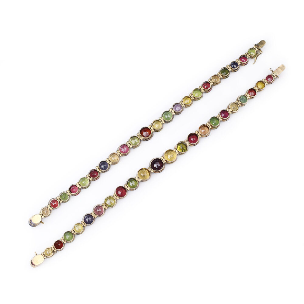 Antique Multi-Gem Line Bracelets