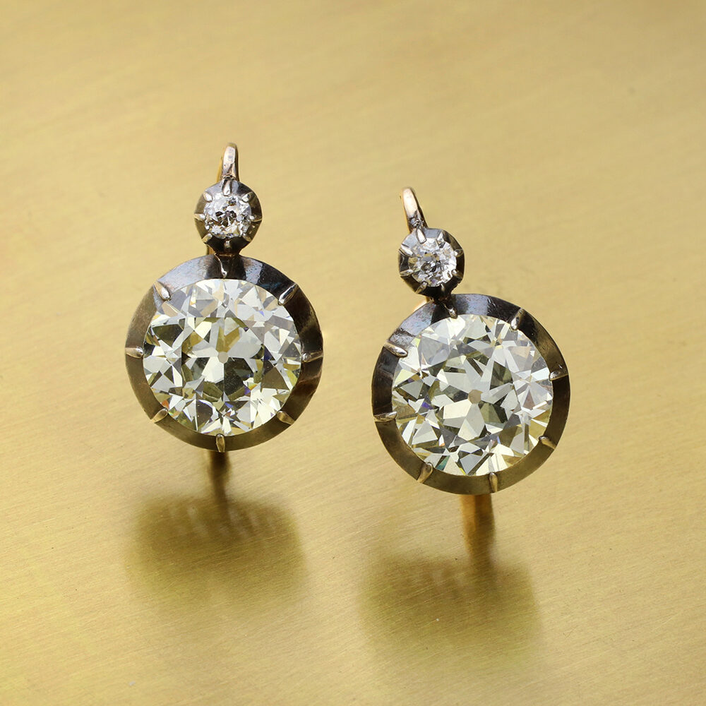 Antique Diamonds on a Wire Earrings
