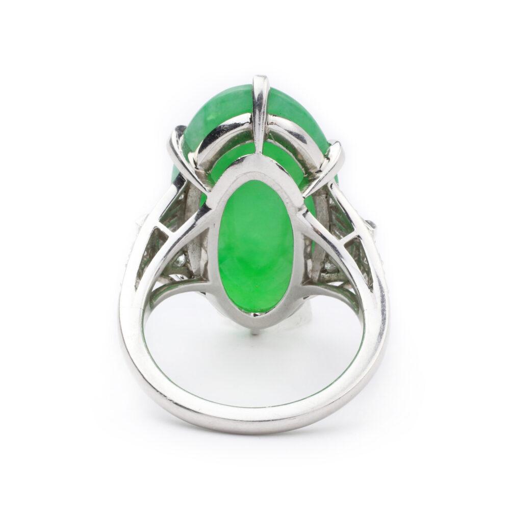 J.E. Caldwell Art Deco Jade and Diamond Ring