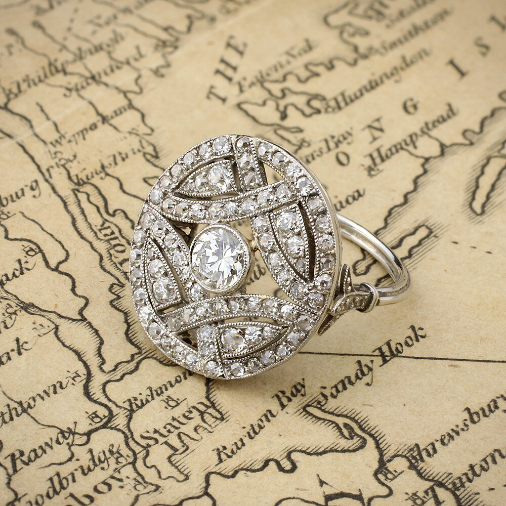 An Antique Diamond Plaque Ring