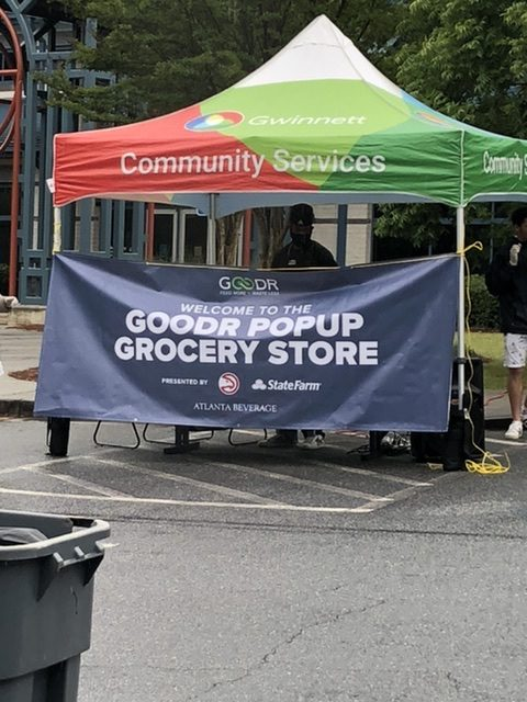 Hawks, Goodr, and State Farm®, in Partnership with Gwinnett County Parks and Recreation, to Host Eighth Pop-up Grocery Store
