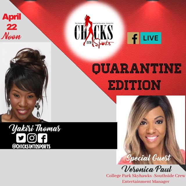 New podcast: E2 Chicks Into Sports Quarantine Edition w/ Guest Veronica Paul