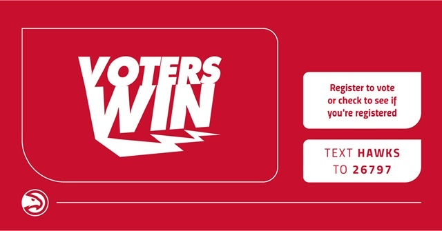 Atlanta Hawks Announce 'Voters Win' Competition With Golden State Warriors And Los Angeles Clippers