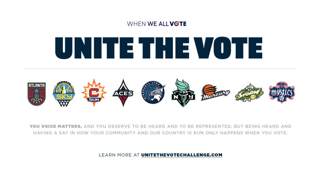 "Atlanta Dream Join WNBA Teams to ""Unite the Vote"""