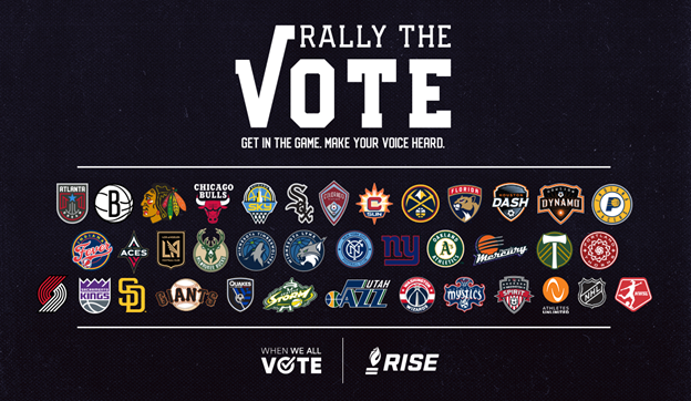 "Sacramento Kings-led Voter Registration Coalition ""Rally the Vote"" Grows to Over 35 Profession​al Sports"