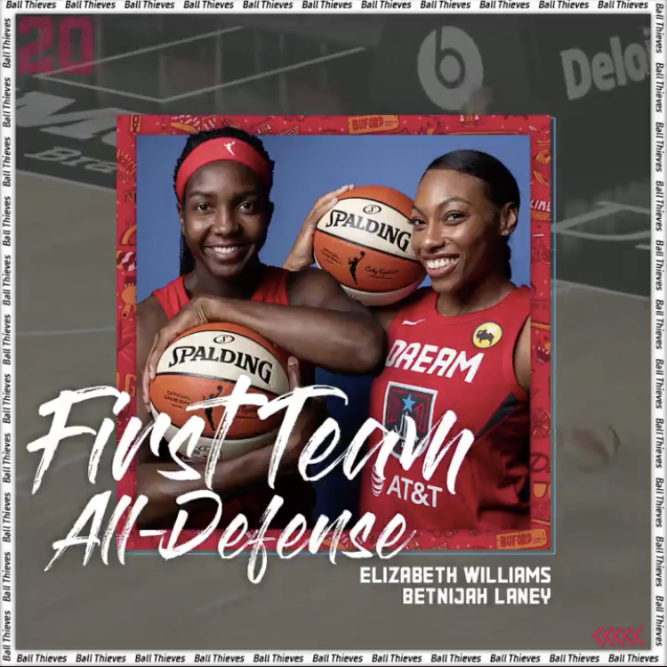 Dream Williams and Laney named All-Defensive First Team Honors