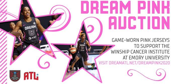 Atlanta Dream Pink auction gets underway