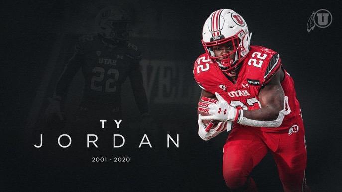 University of Utah superstar football player Ty Jordan has died