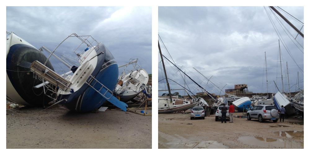 Photo of VIDEO. A hurricane disaster in a greek shipyard