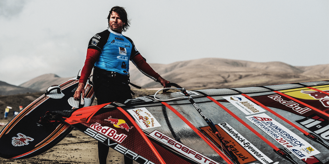 Photo of Björn Dunkerbeck: the 100 km/h windsurfing mission