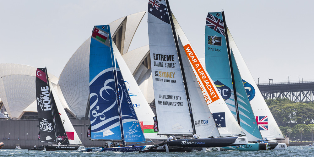 Photo of Full-contact Extreme 40 sailing on Sydney Harbour