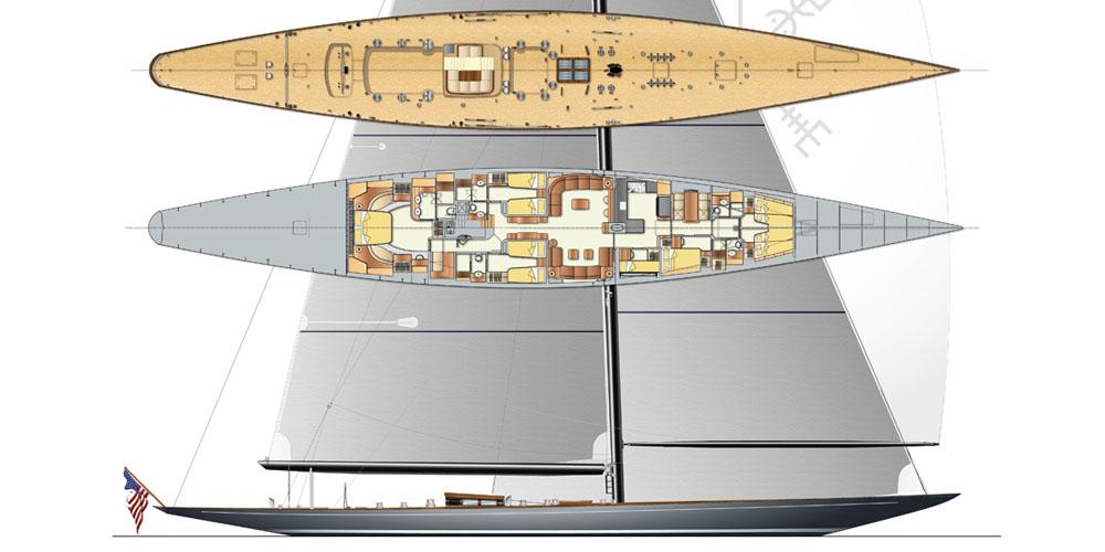 Photo of J-S1, Svea, Vitters Shipyard's first J-Class Sloop under construction