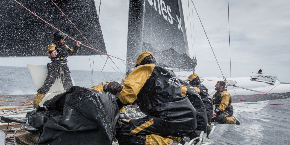 Photo of JULES VERNE. Spindrift 2 rounded the first cape in the Furious Fifties