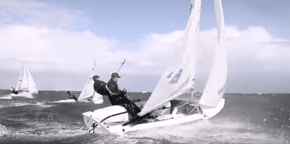 Photo of VIDEO. 25+ knots and two 420's… The result? A broken camera and some almost broken sailors!
