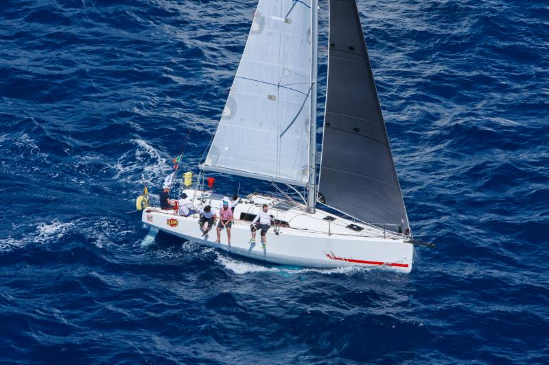 Bam, Conor Fogerty's team from Howth Yacht Club currently lead IRC Three but has Best Buddies hot on their heels © RORC/Tim Wright