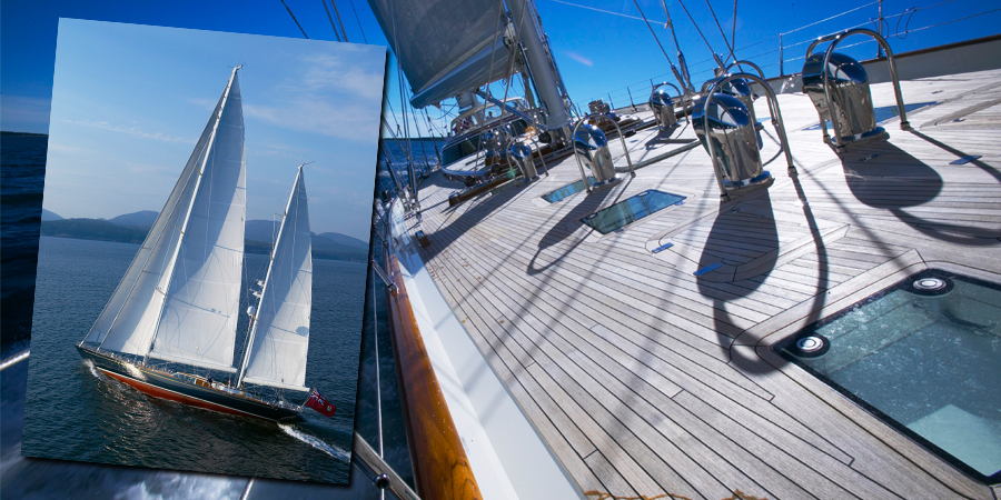 Photo of Hodgdon Yacht Services completed repair work on 154 foot Asolare