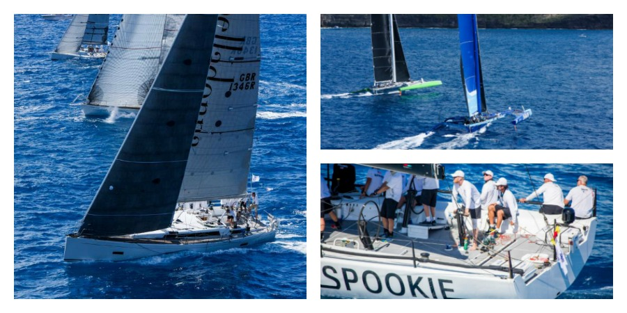 Photo of The record fleet for the RORC Caribbean 600 enjoyed a full moon on the first night of racing